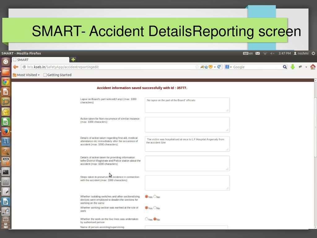 SMART-Safety Management and Reporting Tool - ppt download