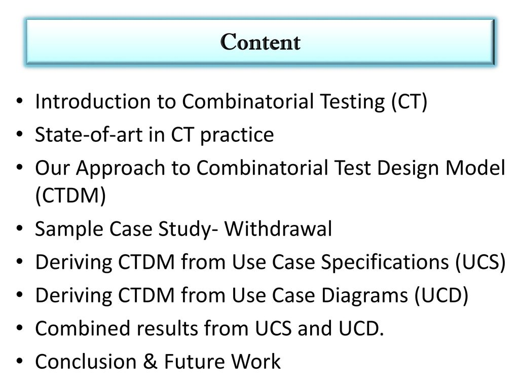 Building Combinatorial Test Input Model from Use Case Artefacts ...