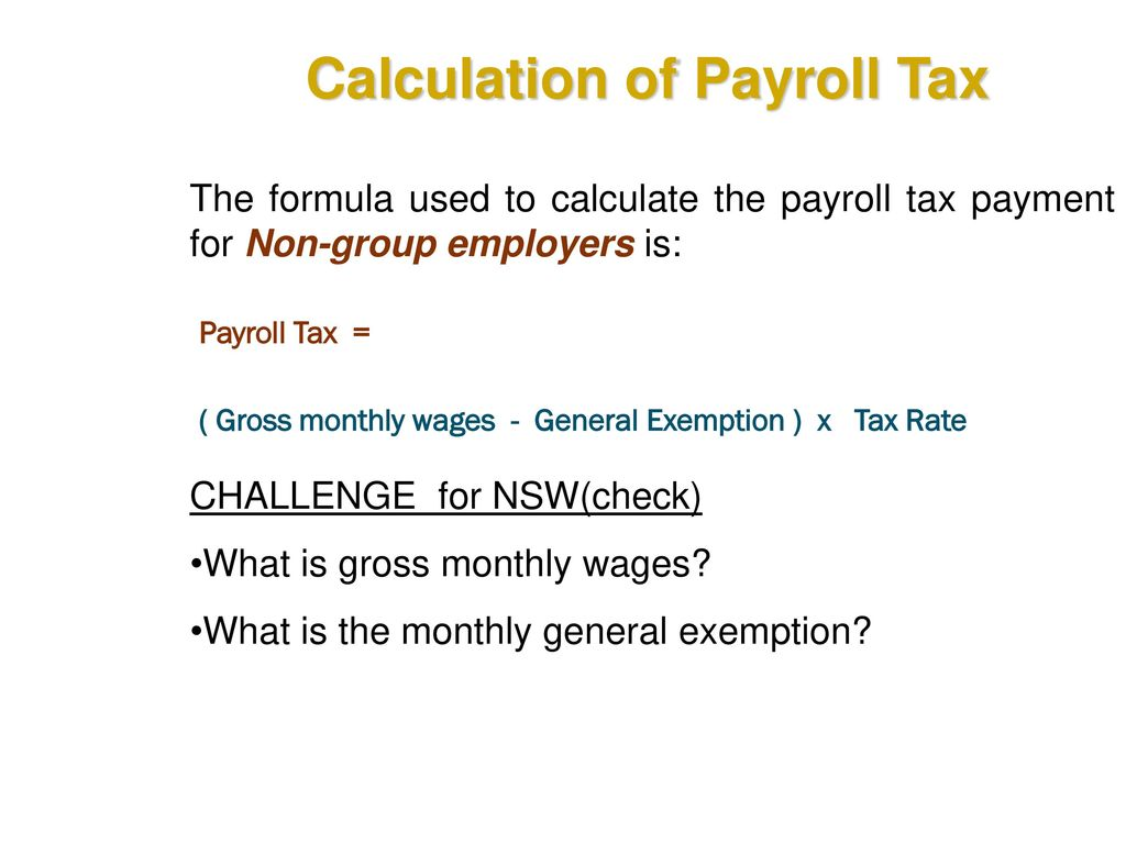 monthly payroll tax calculator