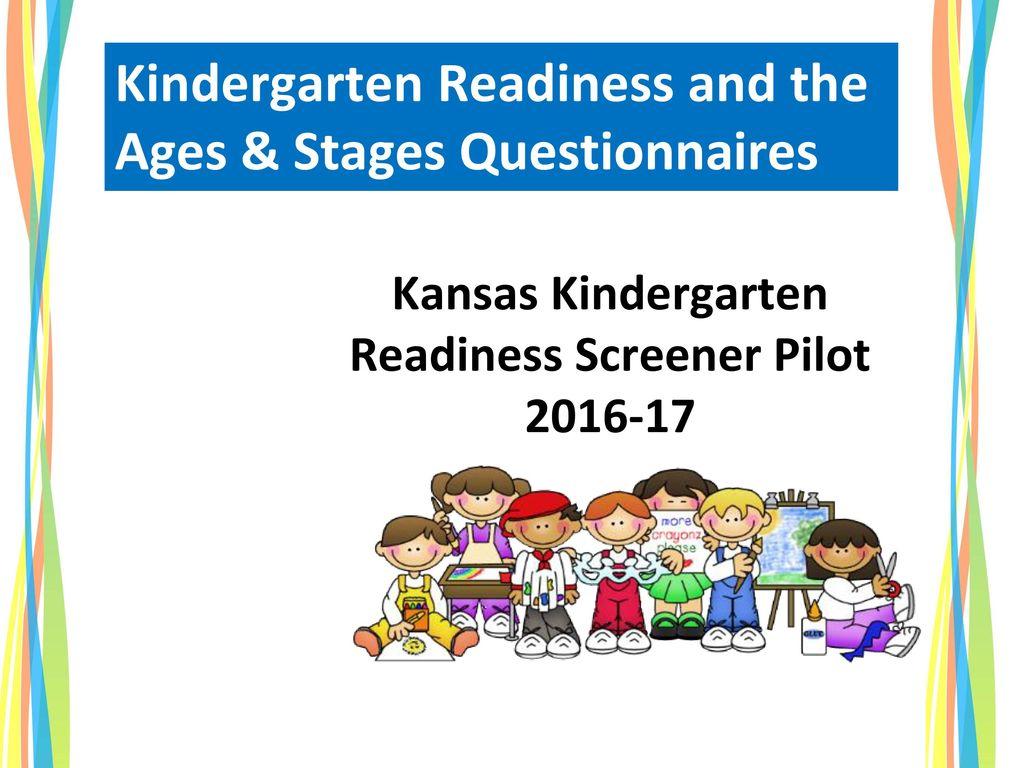 Kansas Kindergarten Readiness Screener Pilot 2016-17