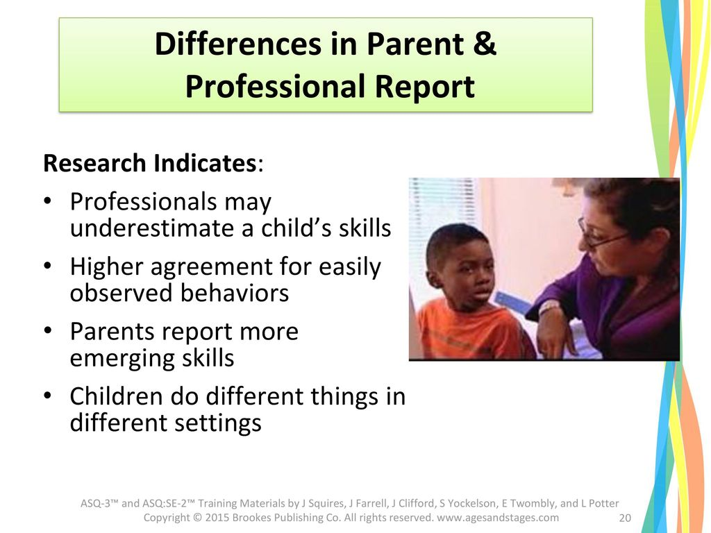 Differences in Parent &