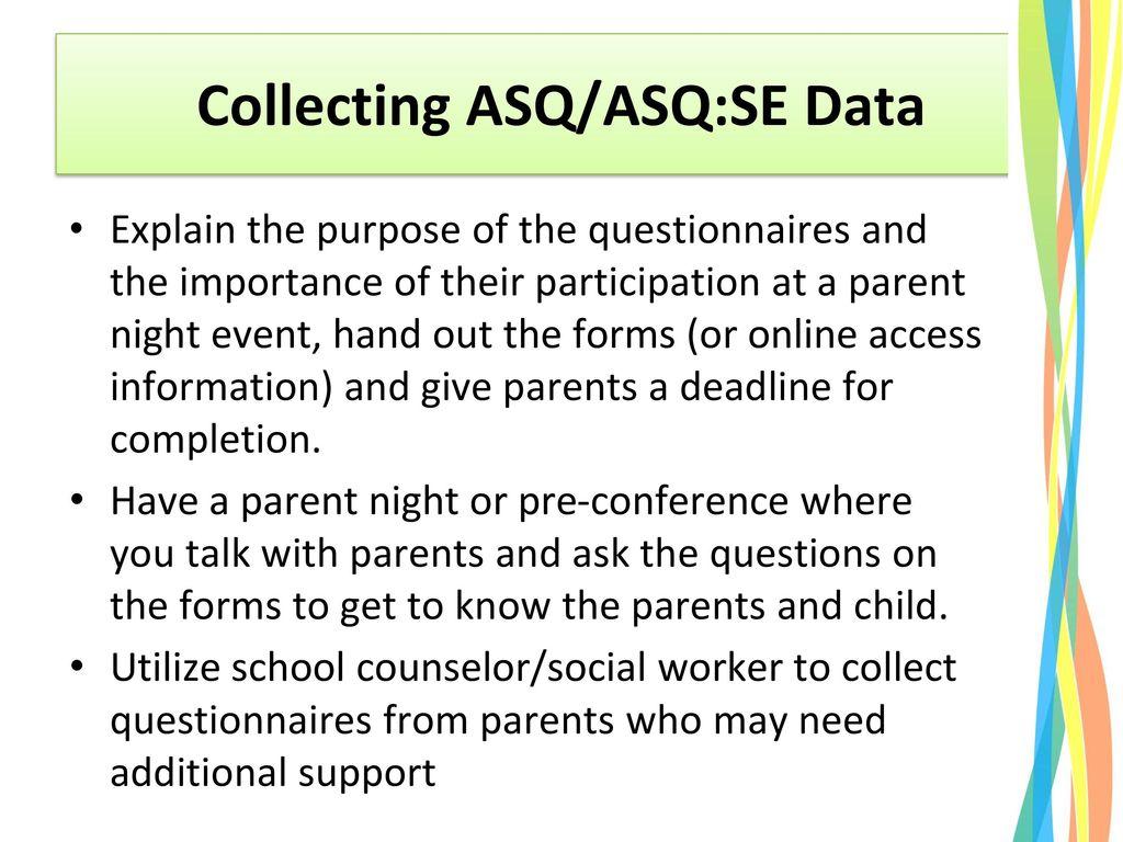 Collecting ASQ/ASQ:SE Data