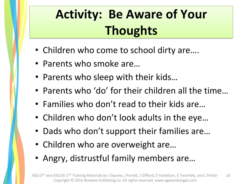 Activity: Be Aware of Your Thoughts