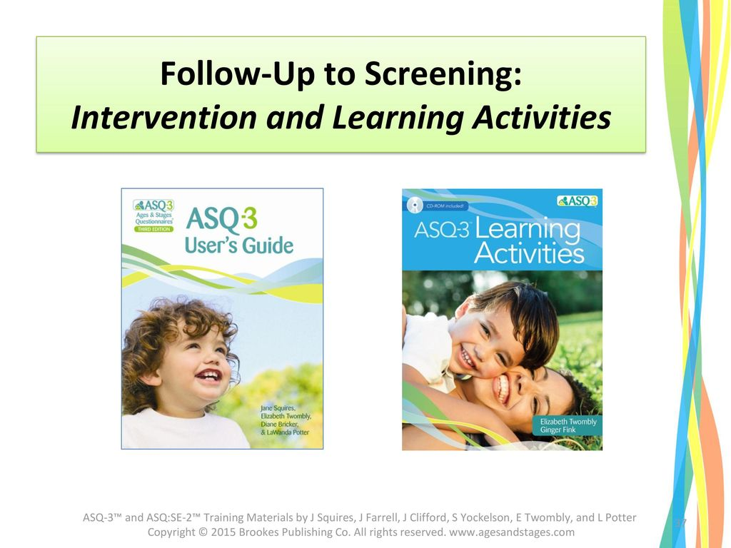 Follow-Up to Screening: Intervention and Learning Activities