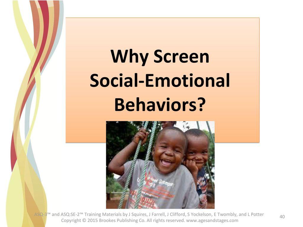 Why Screen Social-Emotional Behaviors