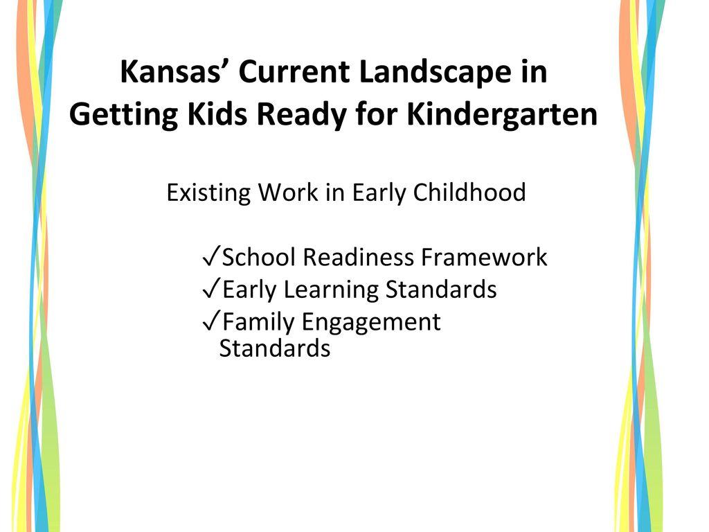 Kansas' Current Landscape in Getting Kids Ready for Kindergarten