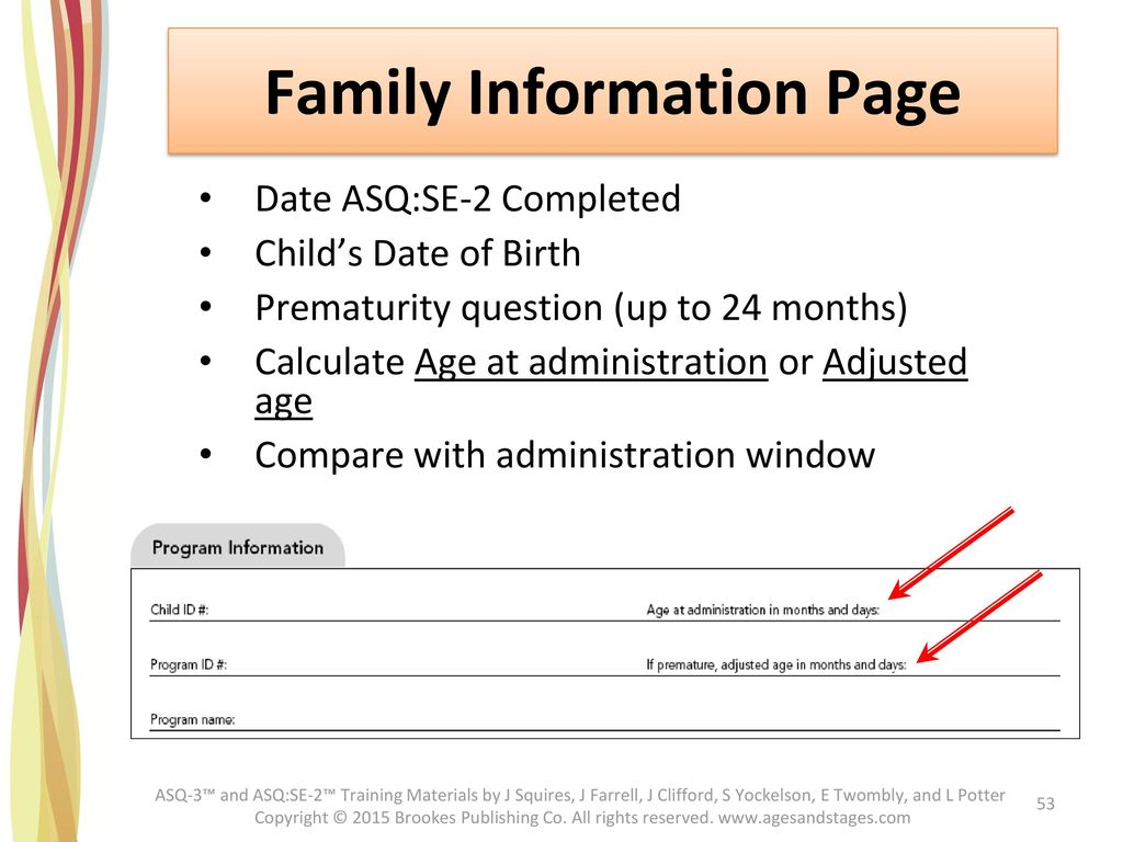 Family Information Page
