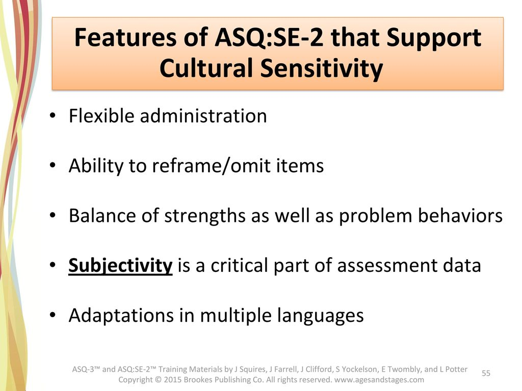 Features of ASQ:SE-2 that Support Cultural Sensitivity