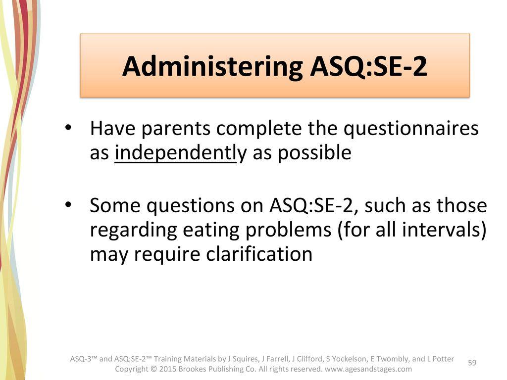 Administering ASQ:SE-2