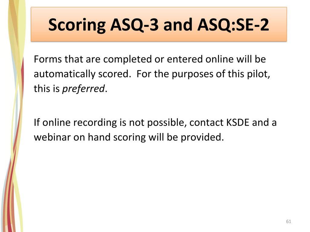 Scoring ASQ-3 and ASQ:SE-2