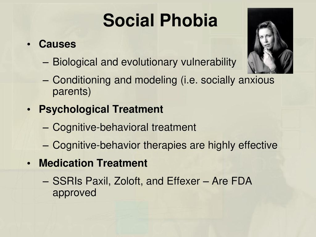 biological therapies phobic disorders This chapter examines how obsessive-compulsive disorder  surgical and somatic therapies such as deep brain  phenomenology of panic and phobic disorders.
