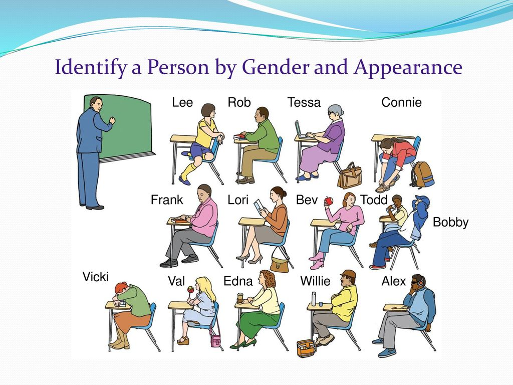Identify a Person by Gender and Appearance