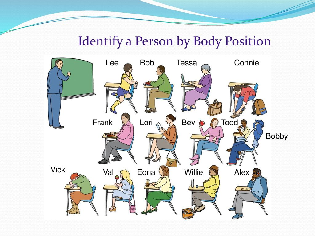 Identify a Person by Body Position