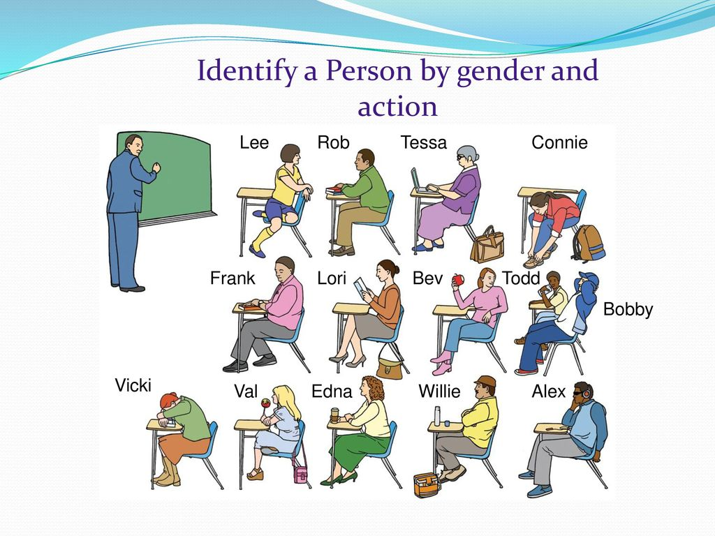 Identify a Person by gender and action