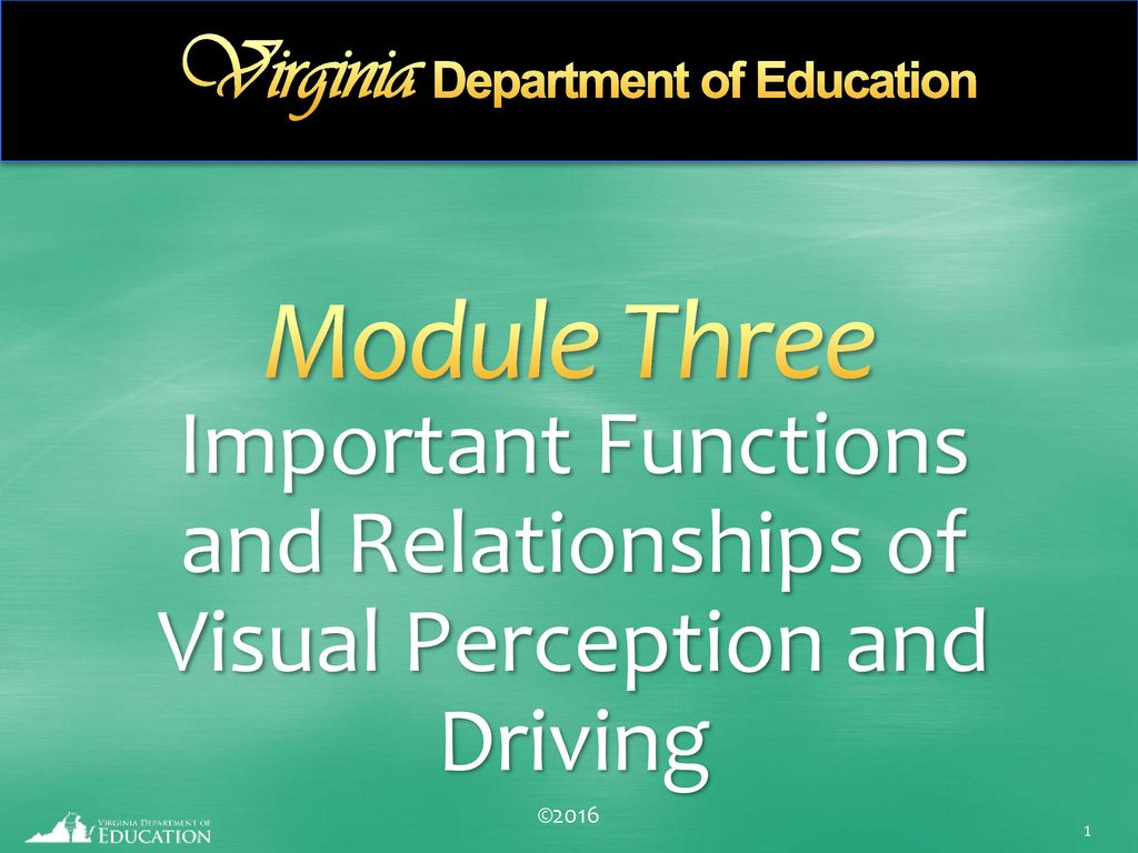 important functions and relationships of visual perception