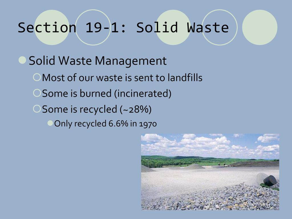 managing our solid waste Home essays municipal solid waste in municipal solid waste in our locality solid waste management is a system which handles any garbage.