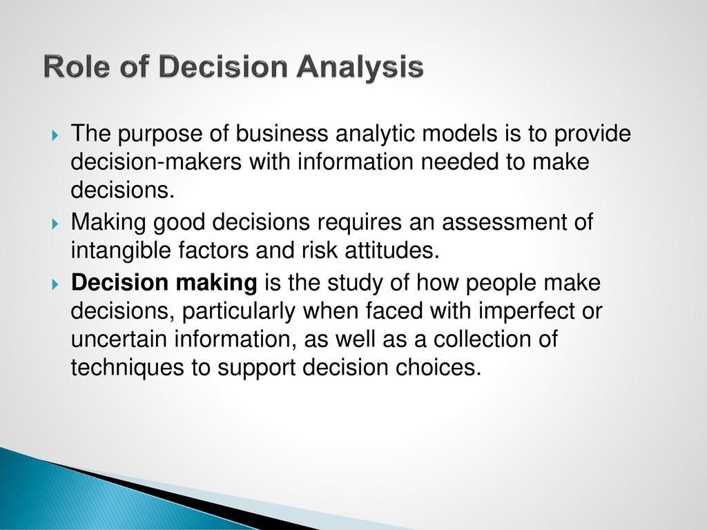 summarize the role of decision making in business The role of management information systems in decision making  fundamental roles of information systems in business  create a brief executive summary for .