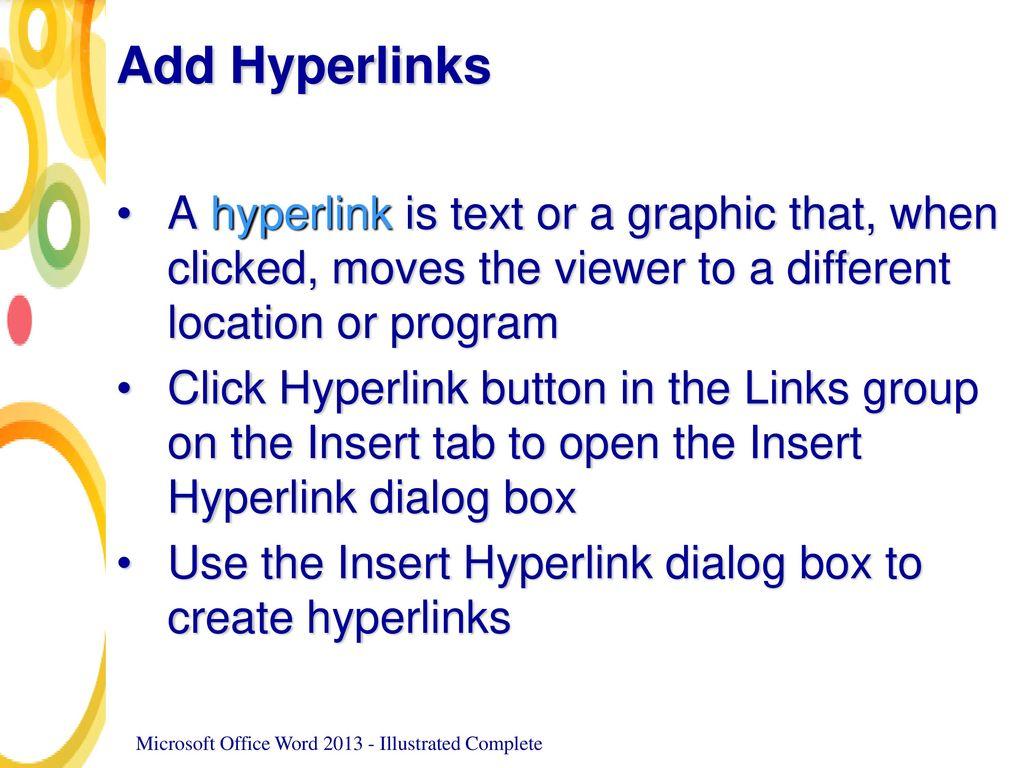 how to open hyperlink in word mac