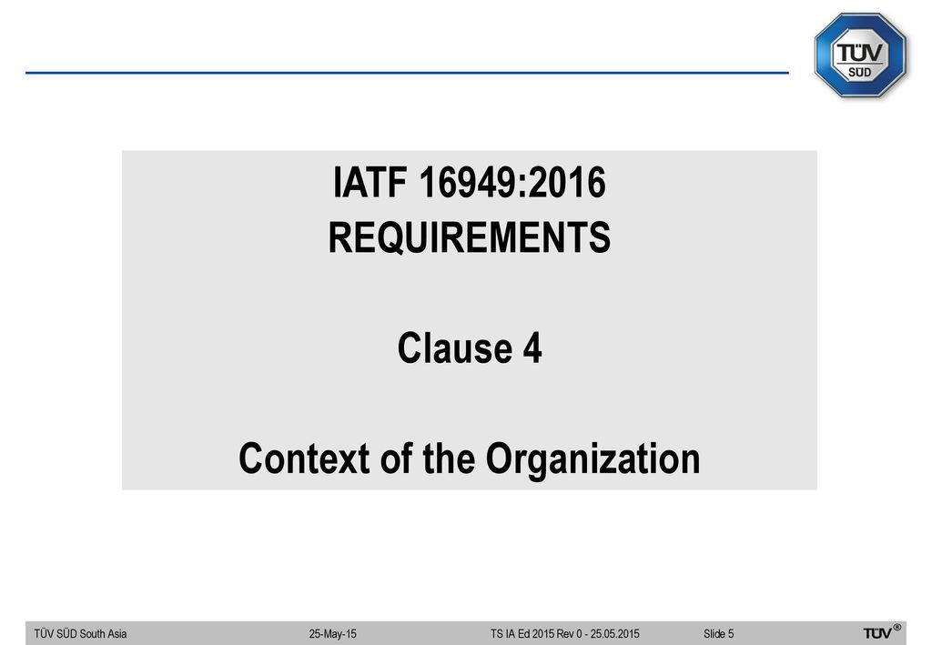 Welcome To Seminar On Iatf 16949 2016 Key Changes Ppt