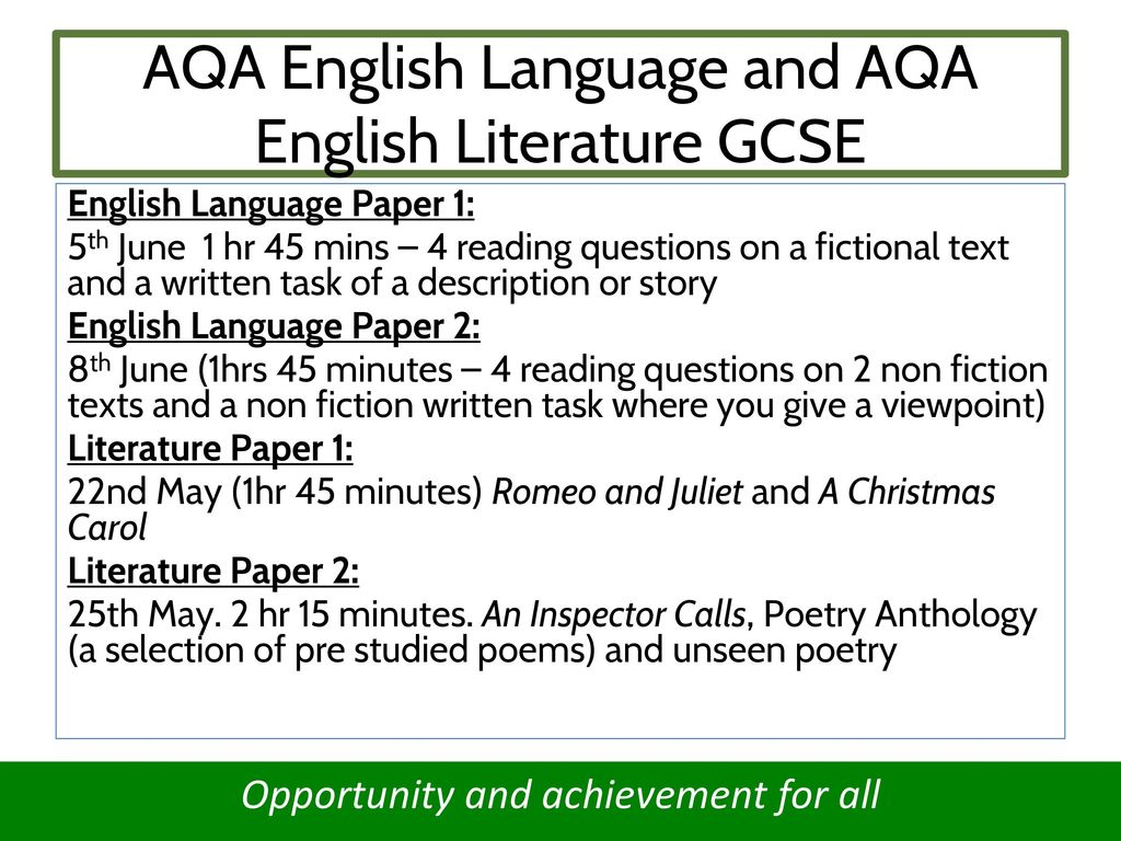 gcse english language essay questions Sample essays for aqa gcse english language paper 1 question 4 posted on february 12, 2018 by emma lee last time, i was having a look at a sample text for question 4 , the essay question on aqa's gcse english language (8700) paper 1, exploring how to annotate and how to plan your response.