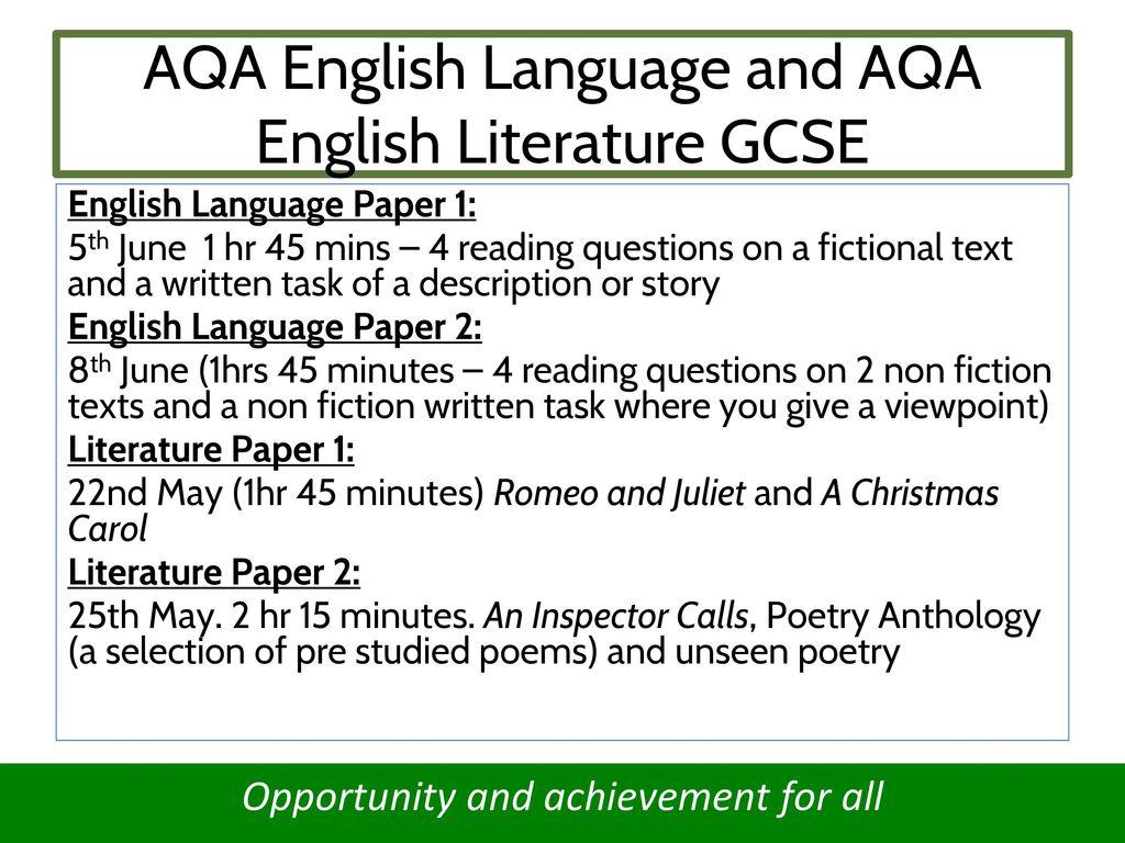Spoken language essay aqa