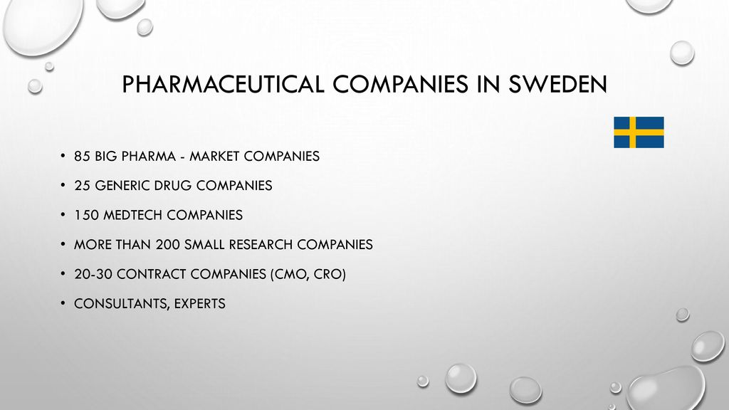 pharmaceutical companies in sweden