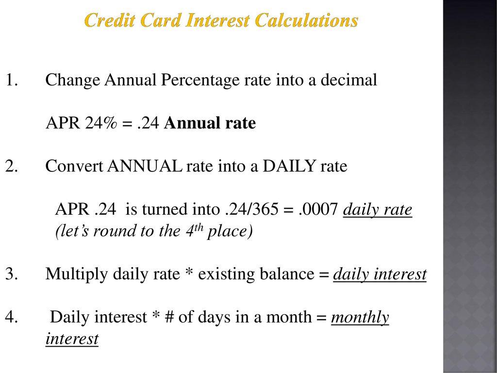 apr interest calculator credit card