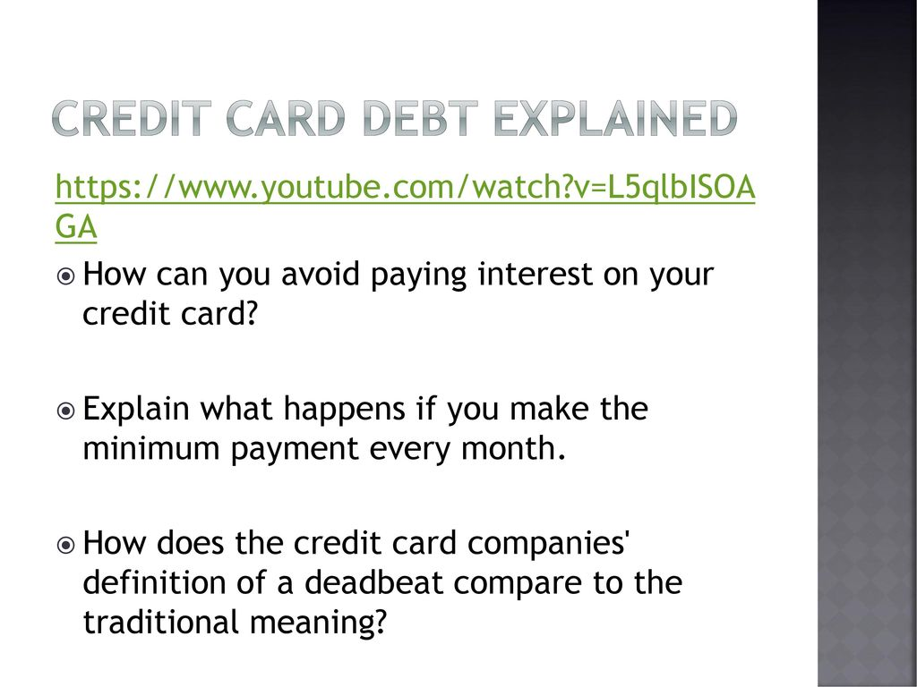 Personal Finance Credit Cards. - ppt download