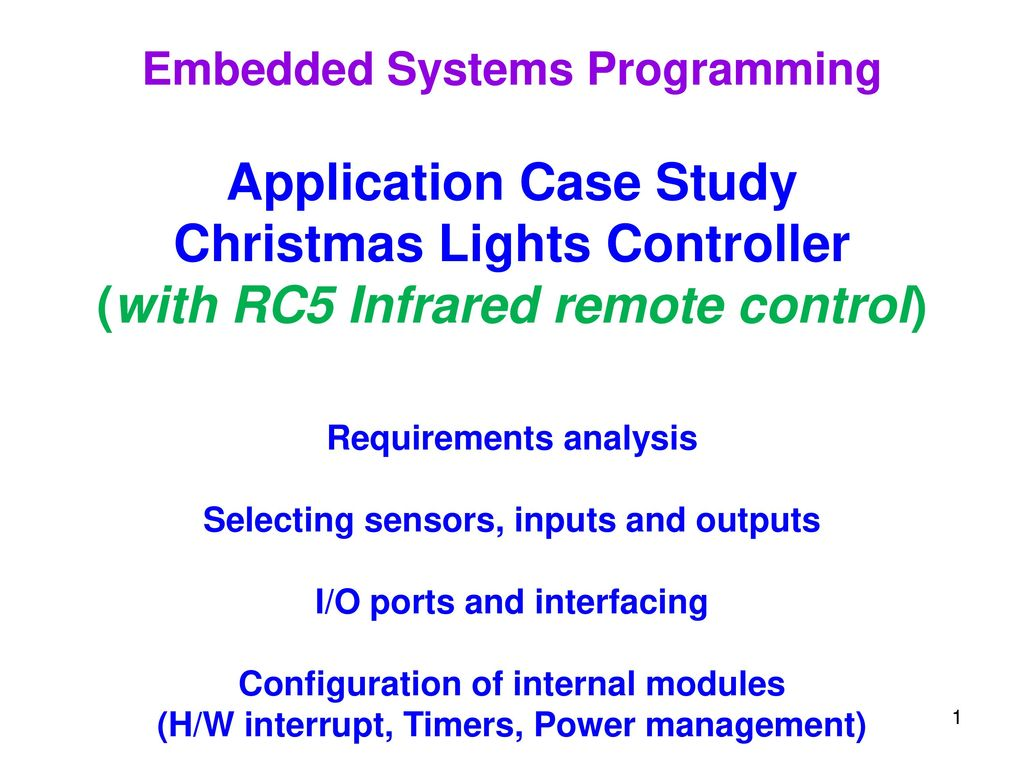 application case study christmas lights controller