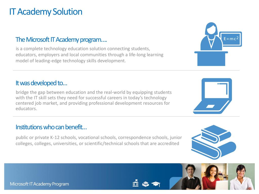 Preparing students and educators to succeed by providing access to it academy solution the microsoft it academy program xflitez Gallery
