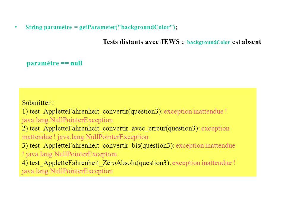Tests distants avec JEWS : backgroundColor est absent