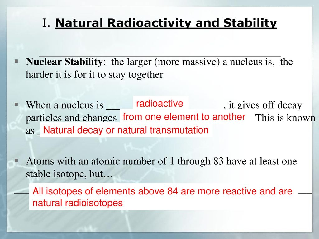 worksheet Chapter 25 Nuclear Chemistry Worksheet unit 11 nuclear chemistry topic 1 natural radioactivity ppt 2 i