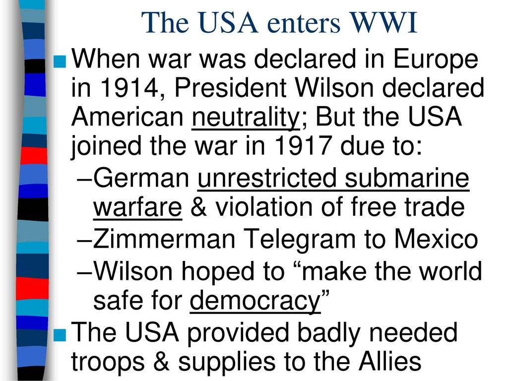 the united states policy of neutrality between 1914 1917 2018-6-10 history of united states foreign policy is a  washington and his cabinet decided on a policy of neutrality  1914–1917 american foreign policy was.