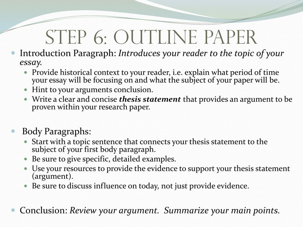U.S. History Research Paper - ppt download