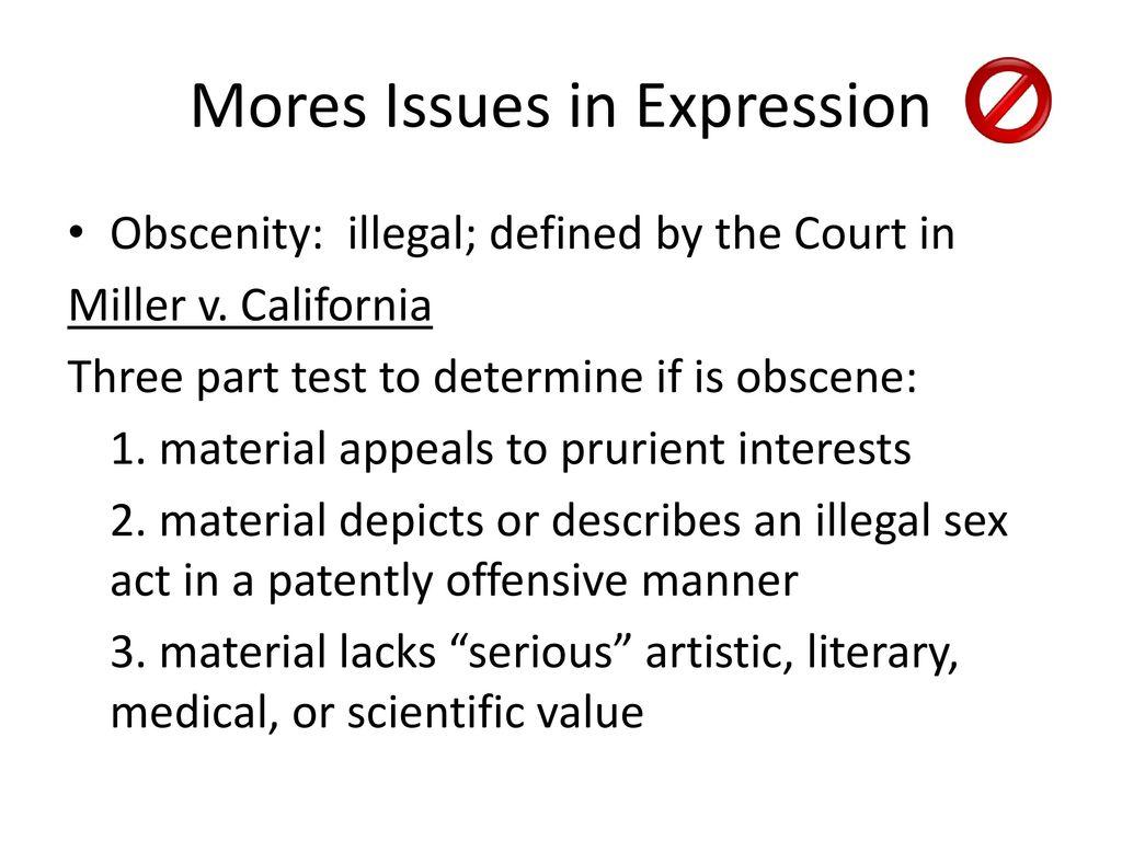 Miller v california essay