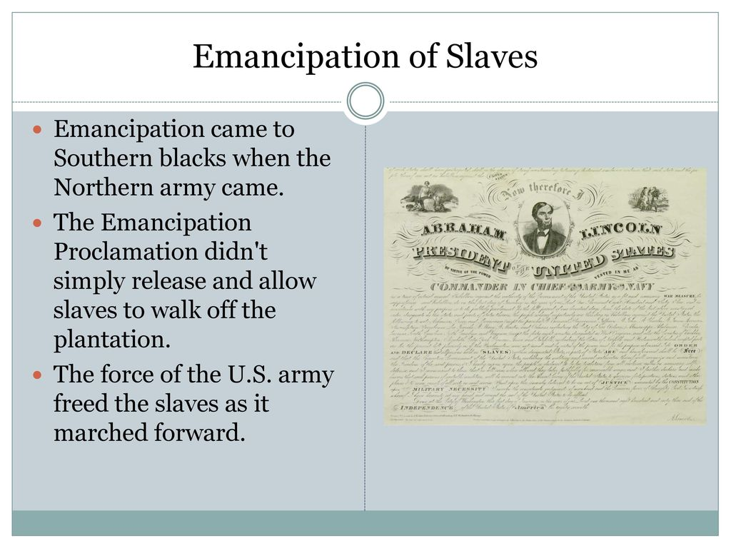 What is the significance of the Emancipation Proclamation?