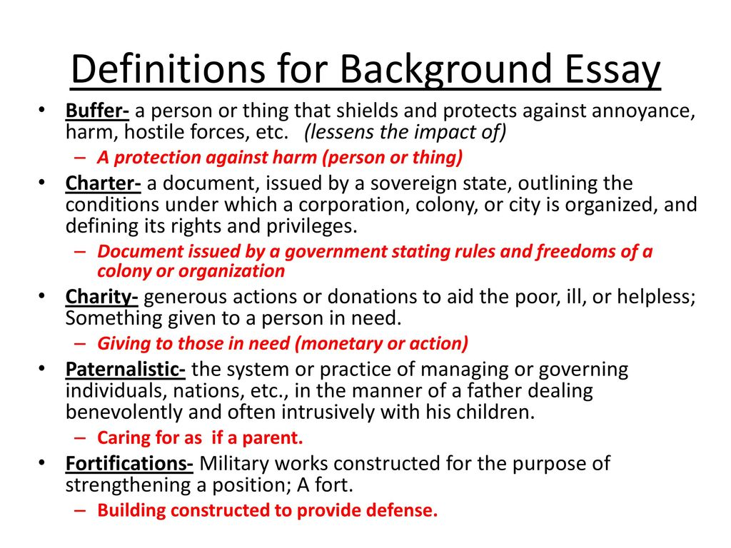 How to Write The Background Information Essay