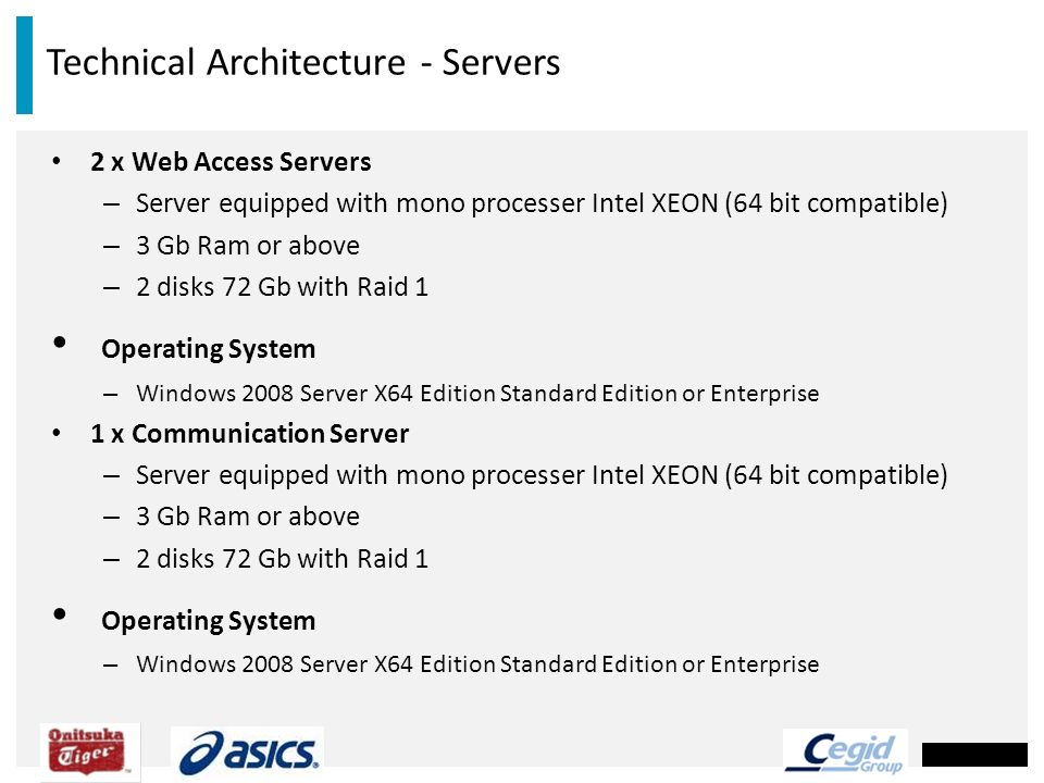 Technical Architecture - Servers
