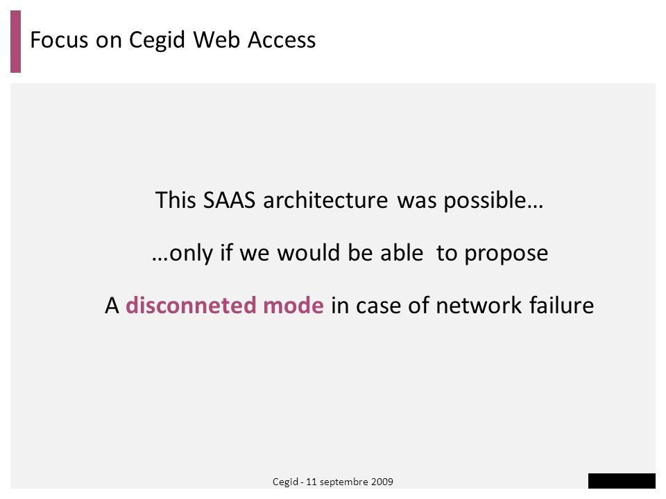 Focus on Cegid Web Access