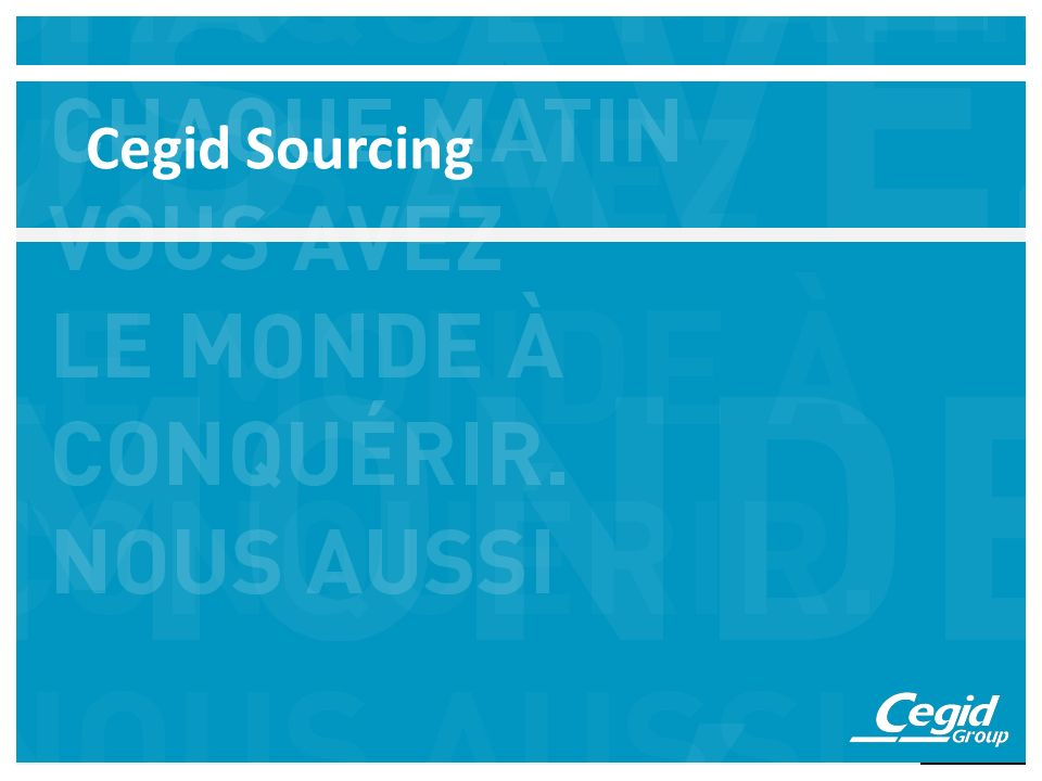 Cegid Sourcing