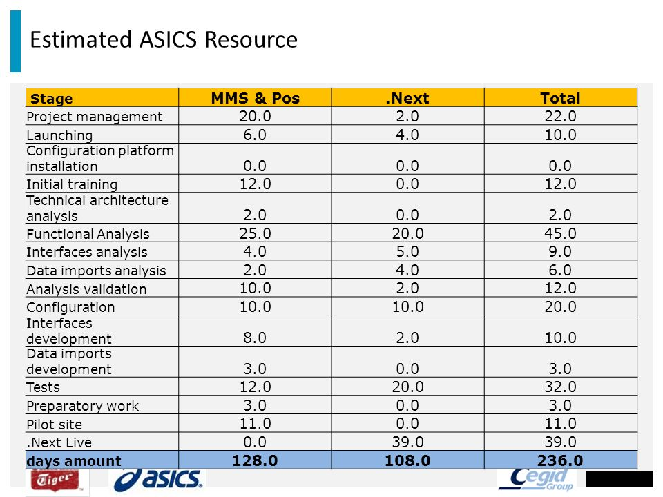 Estimated ASICS Resource