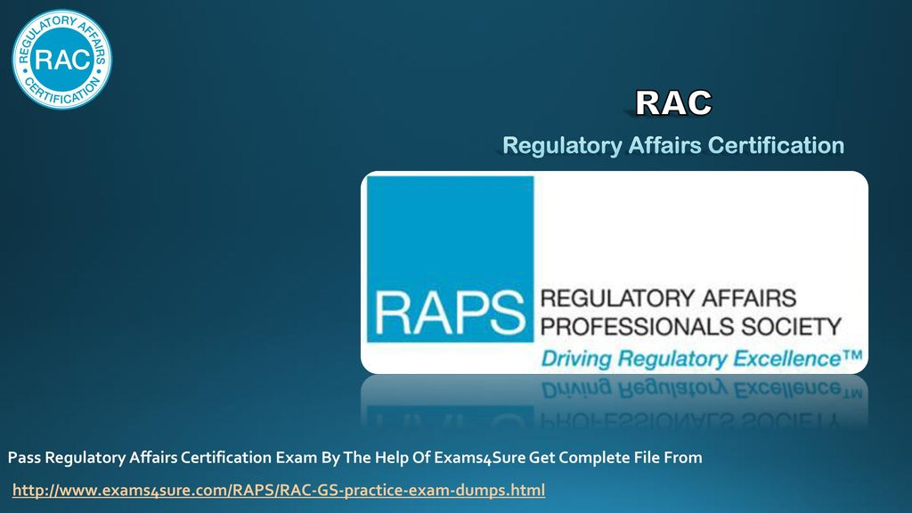 Rac Regulatory Affairs Certification Ppt Video Online Download
