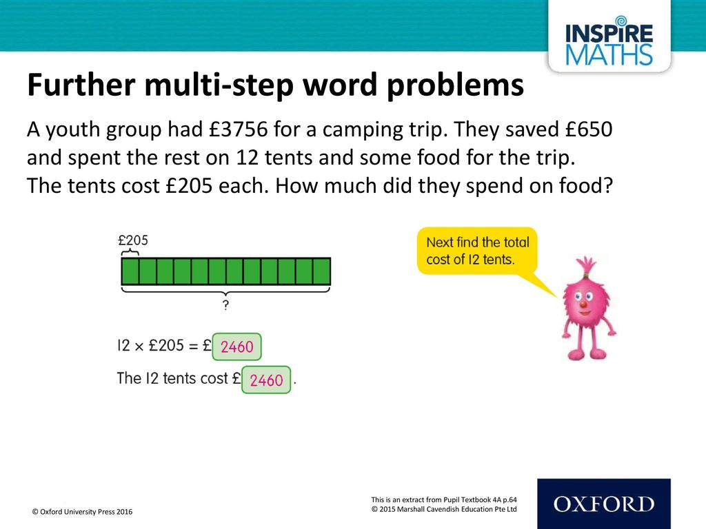 Further multi-step word problems