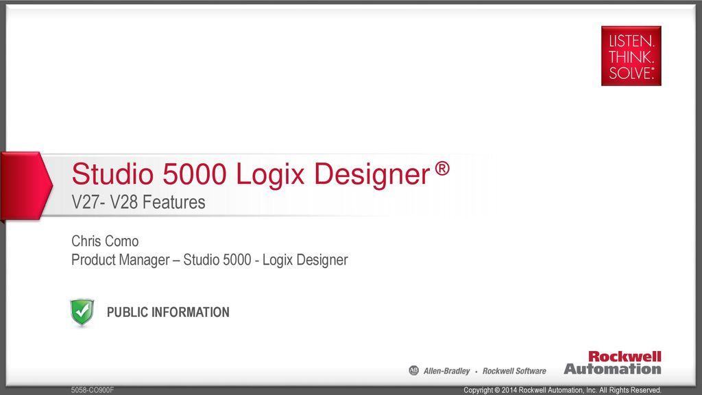 Studio 5000 Logix Designer ®