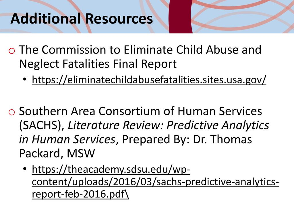 literature review on child abuse Differential response in child protective services: a literature review  types  of cases, such as those involving institutional abuse or children with certain.