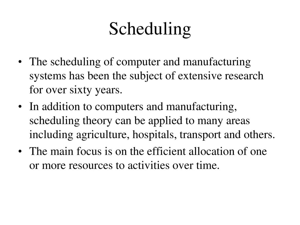 subject scheduling system The problem of nonpreemptively scheduling a set of m partially ordered tasks on  n identical processors subject to interprocessor communication delays is.