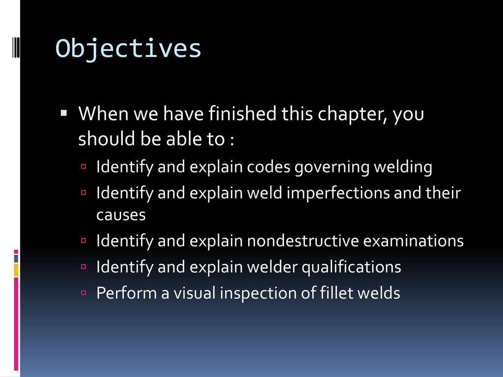 Weld quality level 1 chap ppt download 2 objectives biocorpaavc Images