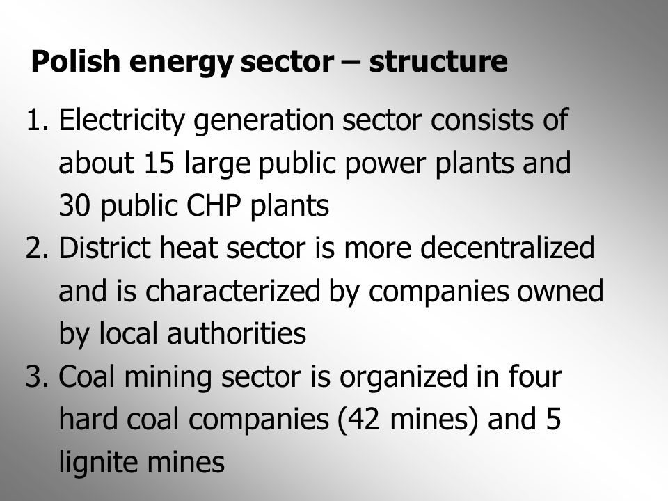 Polish energy sector – structure