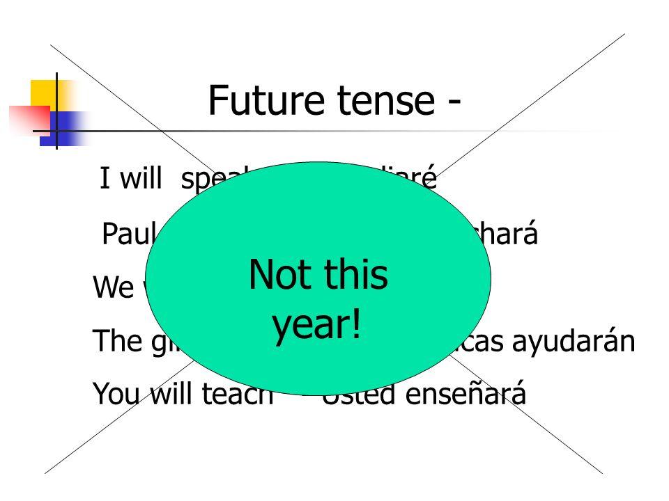 I will speak - Estudiaré