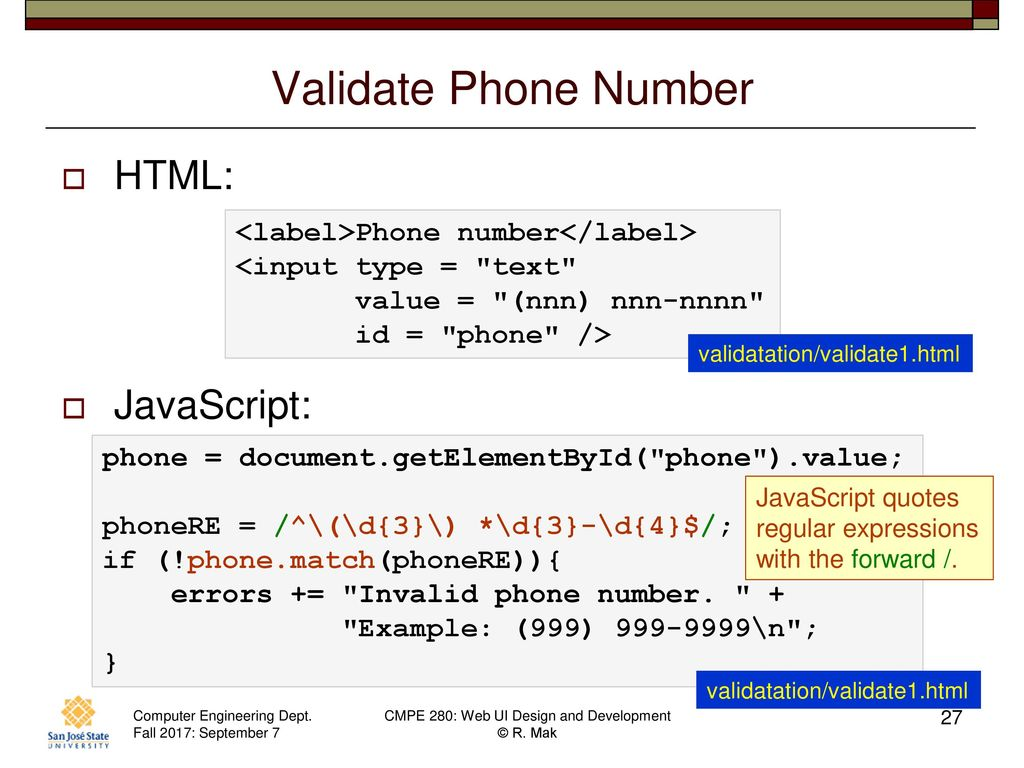 Phone Number Validation Use Cases